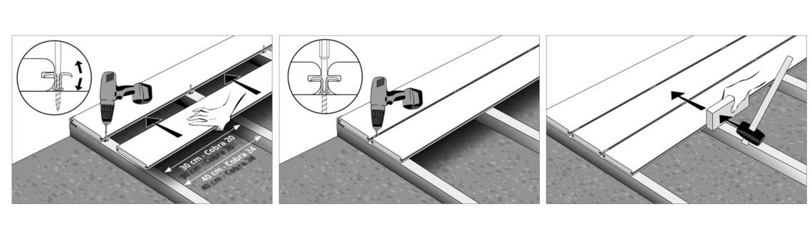installation du clip invisible pour terrasse bois